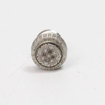 Silver 1g Earring With Diamonds