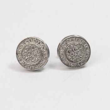 Silver 2.4g Diamond Earrings