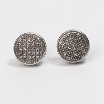 Silver 3.5g Diamond Earrings
