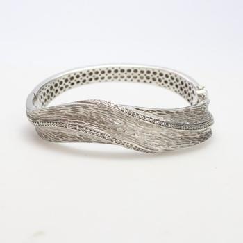 Silver 54.5g Diamond Bracelet