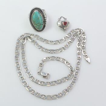 Silver Jewelry, 3 Pieces