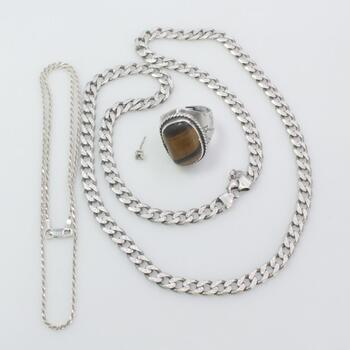 Silver Jewelry, 4 Pieces