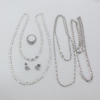Silver Jewelry, 6 Pieces