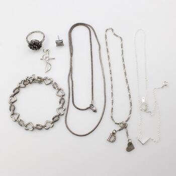 Silver Jewelry, 7 Pieces