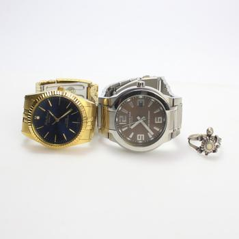 Silver Ring And Watches, 3 Pieces