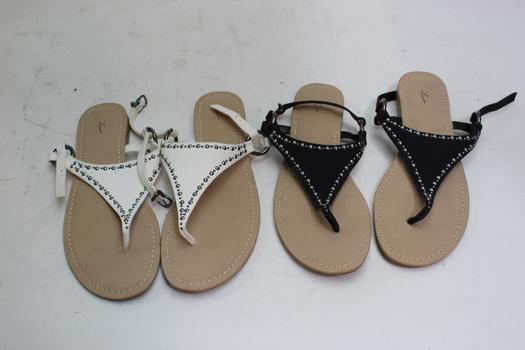 Simply Vera Vera Wang Women's Sandals, Size 8.5, 2 Pairs