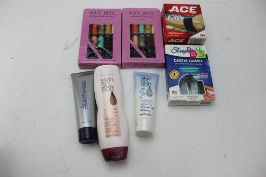 Sleep Right Dental Guard, Elbow Support, Avon Body Wash, Cleanser & More: 5+ Items