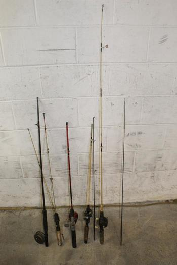 Slingshot And Other Fishing Poles, 5+ Pieces