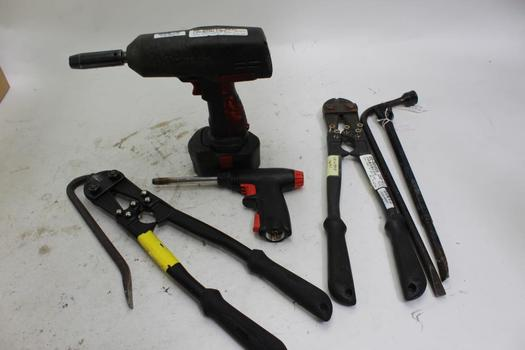 Snap-On Air Impact Wrench CT3850, Bolt Cutters, Tire Iron: 5+ Items