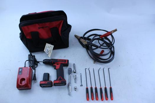 Snap-on Cdr761a Drill/driver & Booster Cables In Snap-on Bag