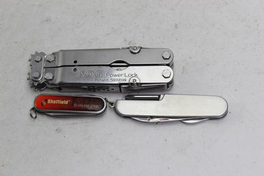 Sog, Sheffield+ More Multi-tools 3 Pieces