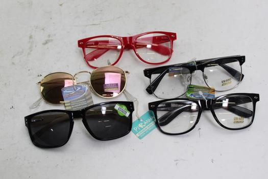 Solary Ray, Piranha Sunglasses And Eyeglasses Bulk Lot,  5 Pieces