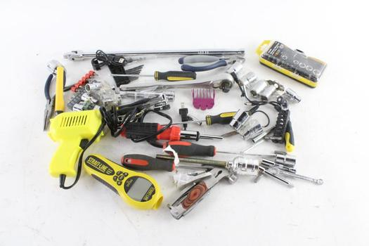 Soldering Gun, Wire Cutters, And More, 10+ Pieces