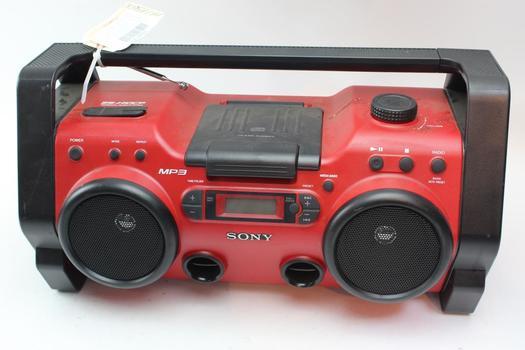 Sony 25-H10CP Mp3 Cd Player Boom Box