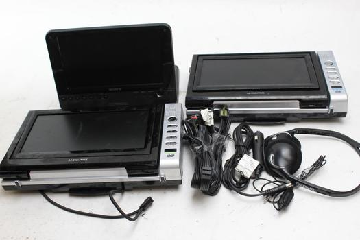 Sony, Audiovox Portable Monitor And Dvd Player