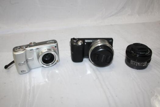Sony Digital Camera And More, 3 Pieces