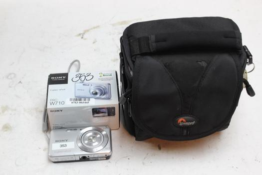 Sony Digital Camera With Lowepro Case