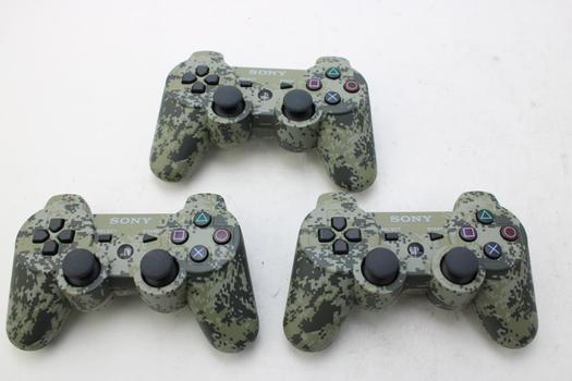 Sony Playstation 3 Dual Shock 3 Controllers: 3 Items