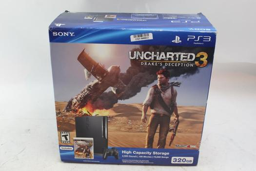 Sony PlayStation 3 Slim Uncharted 3: Drake's Deception Video Game Console Bundle