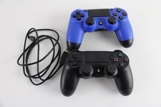 Sony Playstation 4 Controllers, 2 Pieces