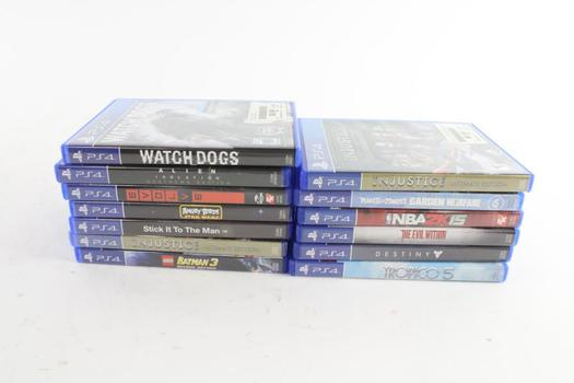 Sony Playstation 4 Games, 13 Pieces