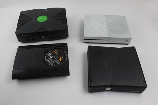Sony Ps3 & Assorted Microsoft Xbox Game Systems; 4 Pieces