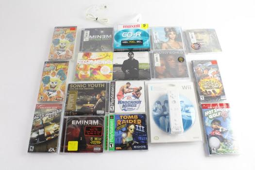 Sony PSP And Playstation Games, 7 Pieces And More