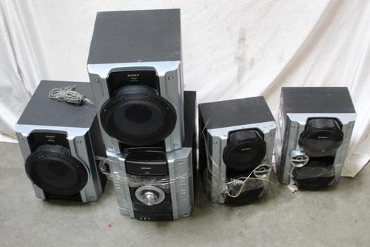 Sony Stereo System With Subwoofers, 5 Pieces