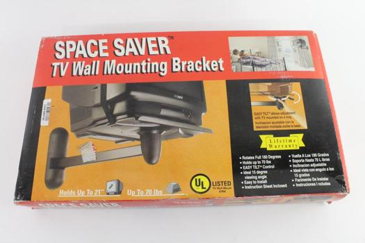 Space Saver TV Wall Mounting Bracket