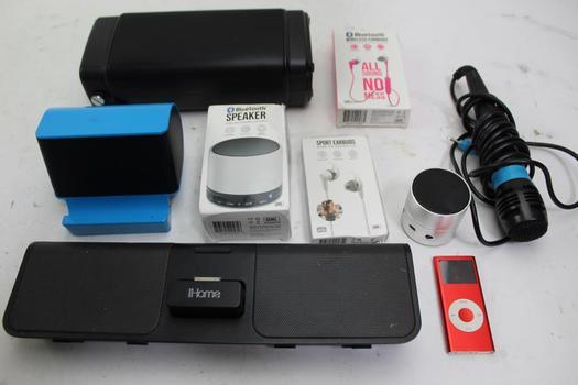 Speakers, Earbuds, Singstar Microphone, Apple Ipod: Ihome, Craig: 5+ Items