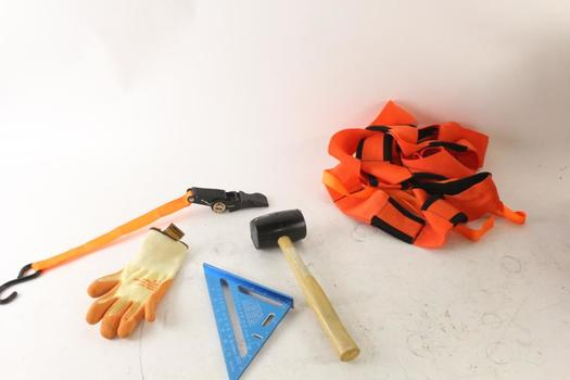 Square, Rubber Mallet And More, 5 Pieces