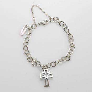 Sterling Silver 10.22g James Avery Religious Bracelet