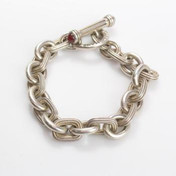 Sterling Silver 104.18g Slane & Slane Toggle Bracelet
