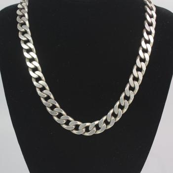 Sterling Silver 141.14g Necklace
