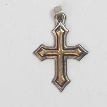 Sterling Silver 3.10g James Avery Cross Pendant