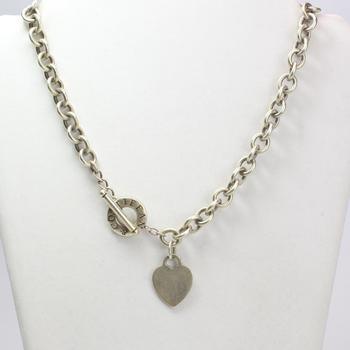 Sterling Silver 81.63g Tiffany & Co. Toggle Necklace