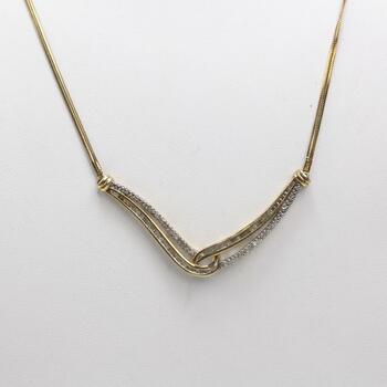Sterling Silver Diamond Necklace