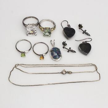 Sterling Silver Jewelry, 10 Pieces