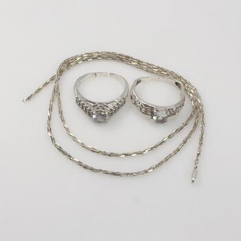 Sterling Silver Jewelry 10.5g
