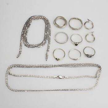 Sterling Silver Jewelry, 11 Pieces