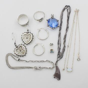 Sterling Silver Jewelry, 12 Pieces