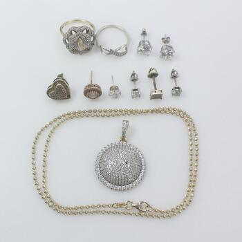 Sterling Silver Jewelry, 12 Pieces 25.3g