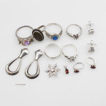 Sterling Silver Jewelry, 13 Pieces