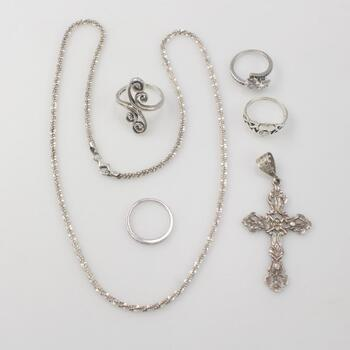 Sterling Silver Jewelry, 25.7g