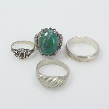 Sterling Silver Jewelry, 4 Pieces 22.6g
