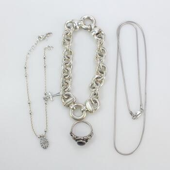 Sterling Silver Jewelry, 4 Pieces 44.7
