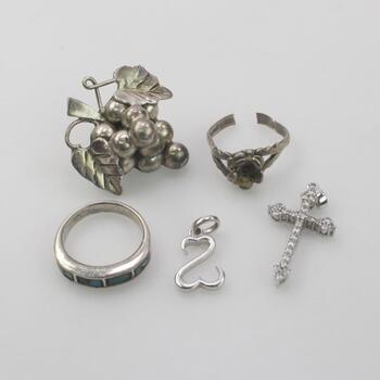 Sterling Silver Jewelry, 5 Pieces