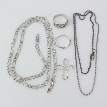 Sterling Silver Jewelry, 5 Pieces 32g