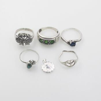 Sterling Silver Jewelry, 6 Pieces