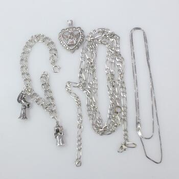 Sterling Silver Jewelry, 6 Pieces 35.6g